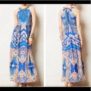 Anthro:  Ranna Gill Boteh Jewel Maxi Dress Size 4